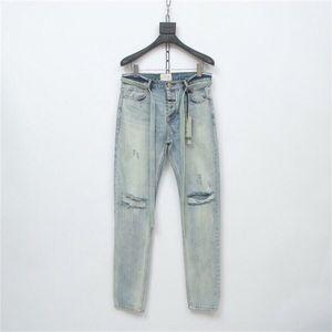 noAHa Правильного FOG сезон 6 главной линия страха бог лента Приталенного мыть нищее отверстие и мужские ленты джинсы и женские джинсы