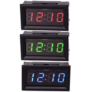LED DIY Vehicle Electronic Clock KIT Car Motorcycle Timer LED Digital Display Power-off Memory DC4.5-30V Red Green Blue