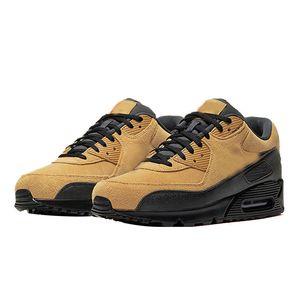 Wmns 90 Essencial Mars Landing Running Shoes Black White Brown Khaki trigo Homens Mulheres Esporte sapatilha
