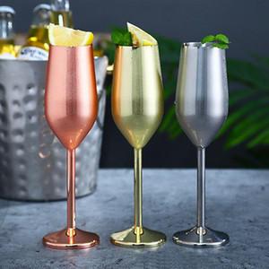 Paslanmaz Çelik Kadehi Şampanya Gözlük 220ml / 7oz Şarap Gözlük 500ml / 16oz Gümüş / Altın / Rose Gold Şarap Gözlük IIA506