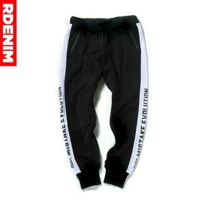 2020 Men Hip Hop Sportswear Cotton Pants Casual Stripe Elastic Cotton Mens Fitness Pants Sweatpants Trousers Jogger Pant #RDY1W