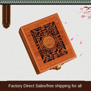Имитация кулон полый из древесины хранения ювелирных изделий коробки хранения кулона Jade упаковки коробки w1ymO