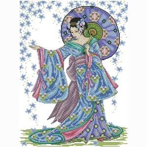 tejido artesanal por mayor de alta calidad de tela bordados hechos a mano diseños impresos cruzan kits de costura costura de puntadas lienzo conjunto