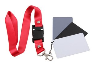 1000pcs Digital Camera 3 in 1 Pocket-Size White Black Gray Balance Cards with Neck Strap Rope for Photography