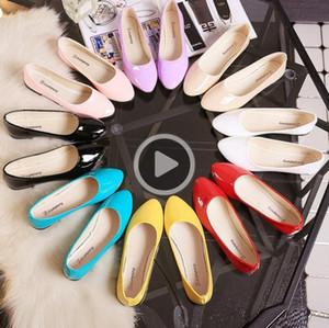 drving deri Sonbahar yeni Koreli casl moda düz şeker renk bayan kadın ayakkabıları sürüş ayakkabıları soild A110