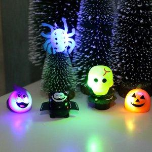 Хэллоуин Кольцо Маленьких подарки Болл партия Finger Светится Деточка Подарки тыквенных Черепа тыквенного Bat Кольцо