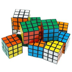 brinquedos de inteligência Cyclone Meninos Mini Dedo 3x3 velocidade Cube Stickerless Dedo Magic Cube 3x3x3 Puzzles Brinquedos DHC1436