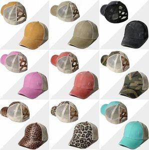 Ponytail Baseball Caps Cross Criss Washable Ball Cap Retro Ball Cap Unisex Sunshade Visor Hat Caps Fashion Outdoor Snapbacks Hats EEA2062