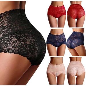 2020 Nouveau femmes sexy String taille haute Corsaire Lingerie dentelle Brief Culotte Sous-vêtements de couleur Nouveau