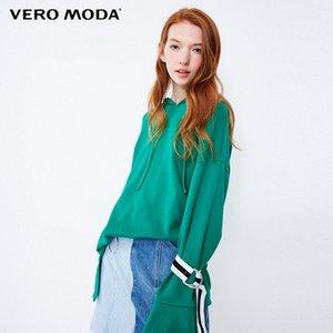 Low-alta de Vero Moda Mulheres Flared punhos de renda-up com capuz Lazer camisola | 318333502