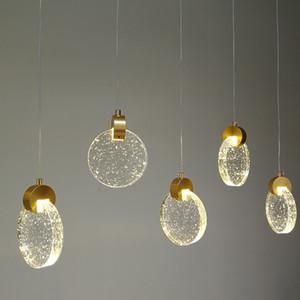 Moderne Cristal LED Lampes suspendues d'or Cuisine Hôtel Salle Lumière Hanging Lampes Chambre LOFT Art Suspension Éclairage