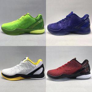 KB6 Kara Mamba 6 vi basketbol ayakkabıları düşün ZK6 Pembe Teyzem Gri Mavi Grinch Yeşil BHM Paskalya yeni ZK 6s protro spor ayakkabılar tenis