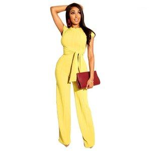 Abiti manica corta fusciacche Stripe Donna Tute Abbigliamento casual Donna Nuovo Waid Waisted delle donne 2pcs Designer