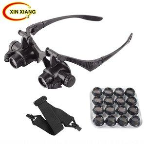 7KTmt Acht Arten Wartung der Vergrößerungslinse Doppel Brille LED-Lampe Schmucksacheuhrgeschenk Wartung hohe Lupe Linse 16