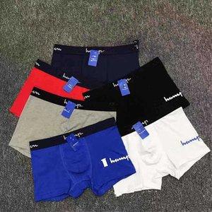 Mode Herren-Unterwäsche Trendy Letter Print Boxer Cuecas Baumwolle Design Unterhose Men Briefs beiläufige Breathable Shorts U Convex Boxer 6Color
