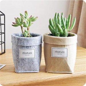 Sacs en feutre Succulent Plant non-tissé Tissu Cactus Flower Pot ou grandir Planters Accueil Panier de rangement Sacs pliant fleur sac de rangement en gros