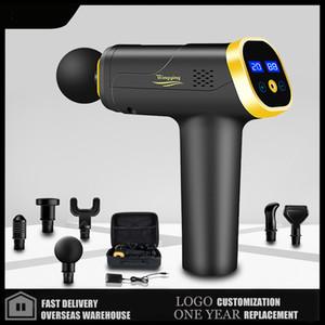 Massage Gun Fascia Gun Neck Massager Vibration Fitness Equipment Noise Reduction Design Electric Massager