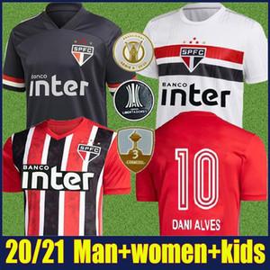 2021 2020 Sao Paulo FC Pato Alves Accueil Blanc Hommes Soccer Jerseys Hernanes Pablo Sao Paulo Chemise de football Camisa de Futebol