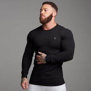 Dr. fratelli muscolari autunno e l'inverno Nuovi sport T-shirt di base mutande mutande degli uomini di sport della camicia casuale degli uomini sottile T-shirt manica lunga