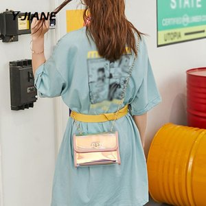حقيبة امرأة بريق لماع الكتف سلسلة 2PC النيون CROSSBODY حقيبة مصمم البسيطة أنثى بولسا الأنثى # G3