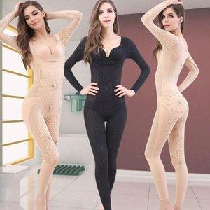 ollmS с длинными рукавами формообразования белья тела одежды живот красотки HIP Брюки Комбинезон брюки брюки Корсет комбинезон Breech подъемного салон обратно
