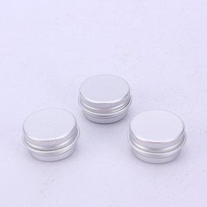 Argenture Conteneurs Pots cosmétiques Organisateurs ronde en aluminium Tins Filetage couvercle en métal Vider coffret de rangement Can Snack Thé 9 5RN C2