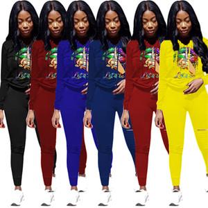 Les femmes 3XL 4XL, plus hoodies taille + pantalon deux pièces longue série tombent taille winte plus sweatsuits manches Tenues jogger costume noir Survêtement 3626