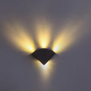 20pcs lot 4W Aluminum Triangle Led Outdoor Wall Sconce Porch Lamp AC85-265V Home Lighting Indoor Decoration Bedroom Light