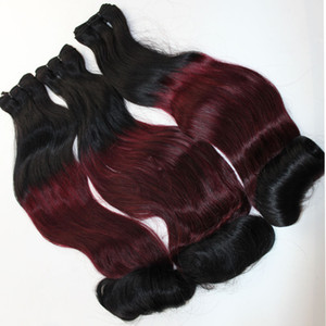 A Funmi Hair Egg Curly Double Drawn Hair Bundles Ombre Color Brazilian Indian Virgin Human Hair Weaves 10 -26 Inch