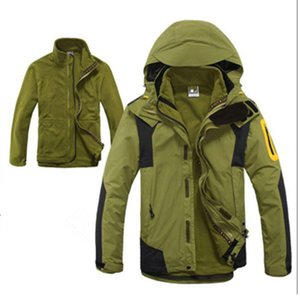 Hot Mens Wandern Klettern 3 in 1 Outdoor-Jacken-Winter-Fleece-Innenwasserdichte Sport-Mantel Camping Trekking Skifahren Männerkleidung