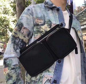 Men messenger bag detachable bags off yellow black belt popular brand chest bag multi function mobile charger bags cross body bag for men