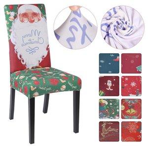 Geométricas Seat Covers Spandex elástico esticar Slipcovers Cadeira para refeições Sala Cozinha Wedding Banquet Hotel Natal