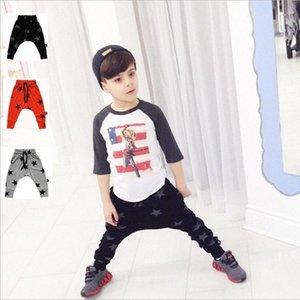 Bambino Harem ragazzi dei pantaloni pp del bambino fumetto potato dei pantaloni Bambini Animal Stripe stampa leggings ragazze dei pantaloni dei pp Stella Dot Tights Nuova B JBGo #