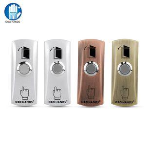 OBO MAINS porte de sortie en métal étanche Bouton de sortie Bouton poussoir mode de conception de quatre couleurs Option pour verrouillage électronique Ouvre