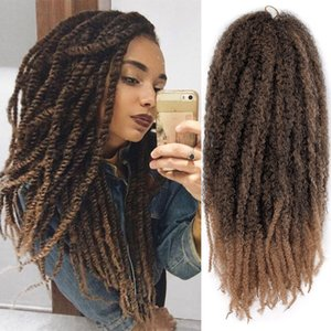 18 Inches Afro Kinky Marley Braids hair Twist Crochet Braiding Hair Ponytail Curly Synthetic Fiber Hair