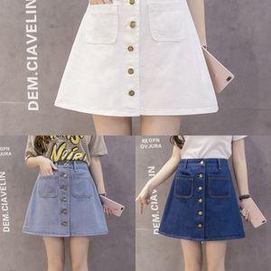 Bv1Bl verão nova cintura alta Um emagrecimento One-Step denim skirt- LINHA denim de uma peça - Linha Uma saia de uma etapa fina coberta de hip para as mulheres