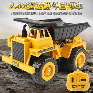 2.4G RC Car Dump Truck Toys Remote Control Alloy Engineering Vehicles Electric Simulation Cars Model Boys Birthday Beach Toys