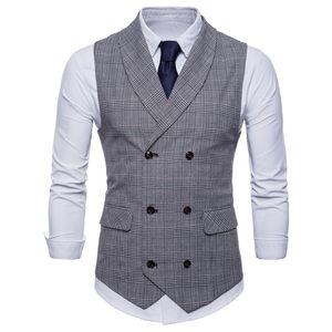 Spring Business Vest Men's Clothing Male Autumn Jacket Casual Men England Suit Vest With Pockets Vest Outerwear Chaleco Hombre 200922
