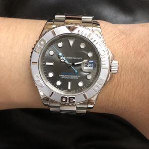 U1 공장 새로운 시계로운 Yatch 남성 손목 높은 품질 자동 40MM 그레이 블루 화이트 126622 원래 걸쇠 사파이어 글라스 다이얼 도착