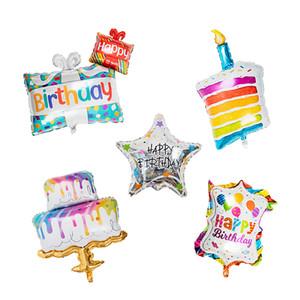 Laser Geburtstags-Ballon mit Aluminium-Beschichtung, Party-Zubehör, Farbe sortiert S00942
