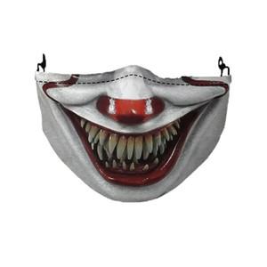 Halloween Face Mask Reusable 3D Skull Pumpkin Grimace Cotton Face Mask Designer masks Reusable PM2.5 Carbon Washable Adult AAD2013
