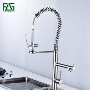FLG pennello rubinetto della cucina estrae Torneira miscelatori cozinha nichel cucina rubinetto lavabo tirare fuori rubinetto H8nC #