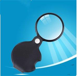 E1 1 58ls Yaşlı Okuma için 50mm Katlama Büyüteç 5 Times Cam Lens Katlanabilir Büyüteçler ile Pu Deri Kulplar Taşınabilir