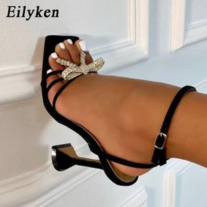 Eilyken New Women shoes Gladiator Sandals Sexy high heels Sandals Summer Party Dress shoes Buckles pumps Big size 42 200924