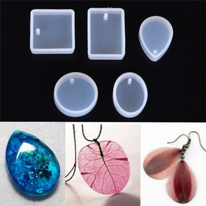 5pcs Silicone Mould Set Craft Mold For Resin Necklace Jewelry Pendant Making DIY Jewelry tool