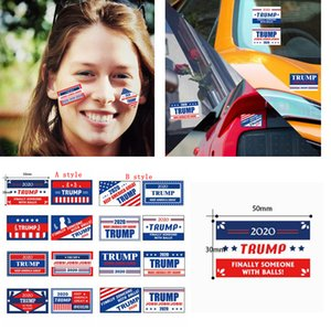 Trump 2020 Face Decals Roll US President General Election Trump Keep America Great Clothes Body party Parade car Stickers FFA4379