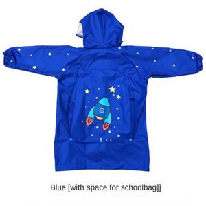 Les garçons raincoat pour les enfants et les filles chapeau de Big Cartable élèves chapeau Cape du bébé de la maternelle avec Cartable poncho
