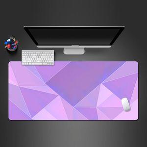 Personalidade Creative Color Jogo Mouse Pad Oversized Computer Desk Pad Office Keyboard Bloqueio de Borda antiderrapante lavável Rubber Mats