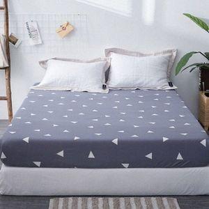 1pc 100% Polyester Fied Blatt Maress Abdeckung Drucken-Bettwäsche Leinen Bettlaken mit elastischem Band EJCr #