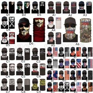 Маски для лица Trump Американских Выборов в США Флаги Bandana Волшебных шарфов черного Lives Matter оголовье Тюрбан Открытого Велоспорт Маска CYZ2580 1000шт